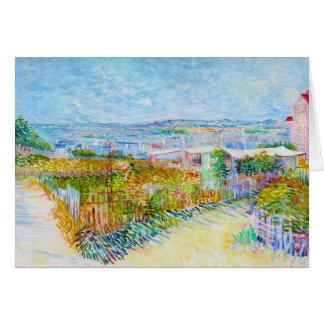 Montmartre - behind the Moulin de la Galette Card