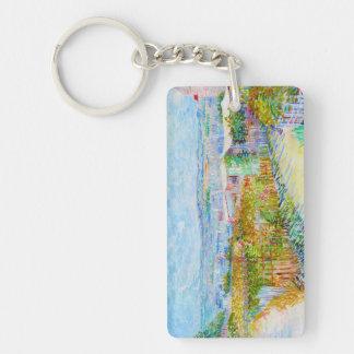 Montmartre - behind the Moulin de la Galette Double-Sided Rectangular Acrylic Keychain