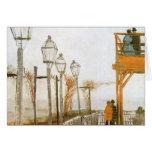 Montmartre by van Gogh, Vintage Impressionism Art Greeting Cards