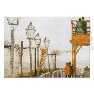 Montmartre by van Gogh, Vintage Impressionism Art Greeting Card