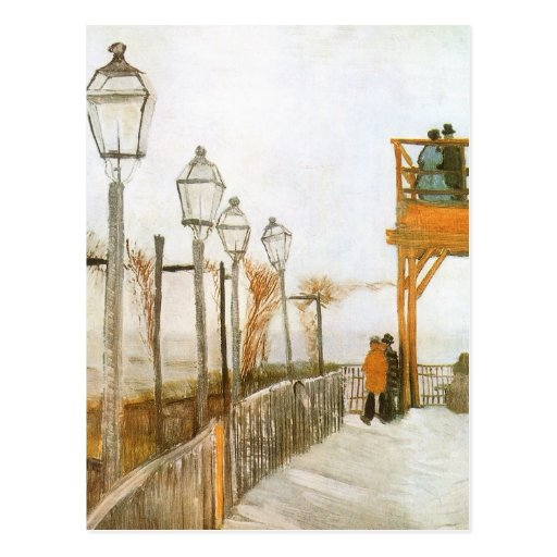 Montmartre by van Gogh, Vintage Impressionism Art Postcards