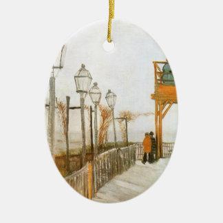 Montmartre by Vincent van Gogh, Vintage Fine Art Ceramic Ornament