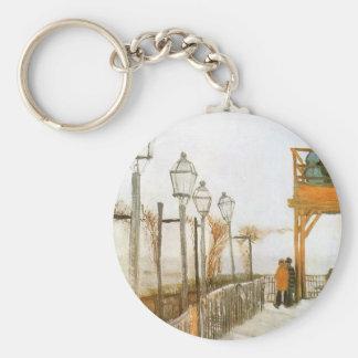 Montmartre by Vincent van Gogh, Vintage Fine Art Keychain