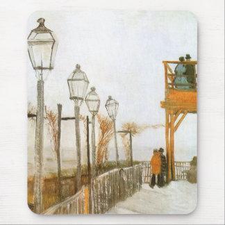 Montmartre by Vincent van Gogh, Vintage Fine Art Mouse Pad