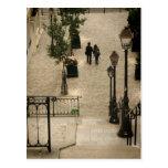 Montmartre camina postal