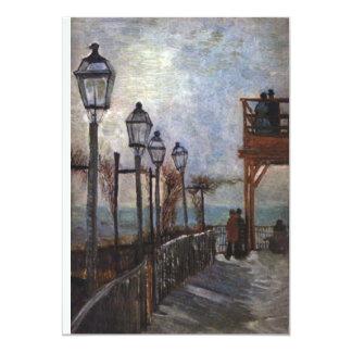 """Montmartre de Vincent van Gogh Invitación 5"""" X 7"""""""