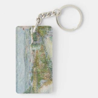 Montmartre Double-Sided Rectangular Acrylic Keychain