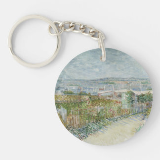 Montmartre Double-Sided Round Acrylic Keychain