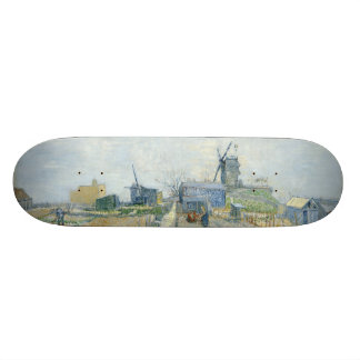 Montmartre Mills and Vegetable Gardens by Van Gogh Skateboard