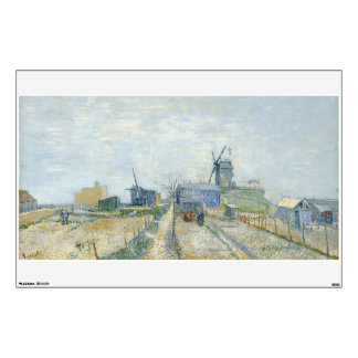 Montmartre Mills and Vegetable Gardens by Van Gogh Wall Graphic