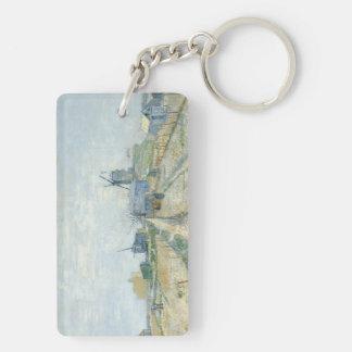 Montmartre: molinoes de viento y asignaciones llavero rectangular acrílico a doble cara