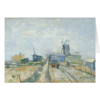 Montmartre: molinoes de viento y asignaciones tarjeta de felicitación
