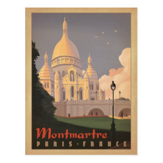 Montmartre - Paris, France Postcard