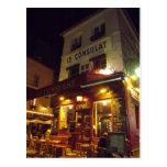 Montmartre París, Francia en la noche Postal