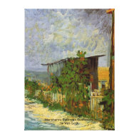 Montmartre Path with Sunflowers by Van Gogh. Canvas Print