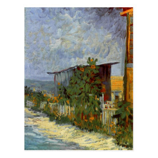 Montmartre Path with Sunflowers Van Gogh Fine Art Postcard