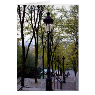 Montmartre Steps Greeting Card