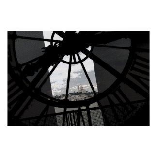 Montmartre through the d'Orsay clock window Poster