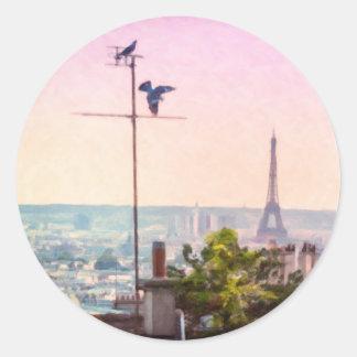 Montmartre Views - Paris Eiffel Tower Sticker