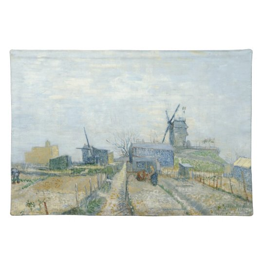 Montmartre: windmills and allotments cloth placemat
