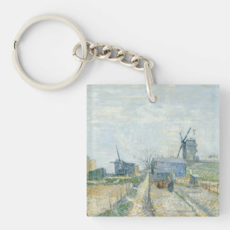 Montmartre: windmills and allotments keychain