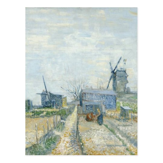 Montmartre: windmills and allotments postcard