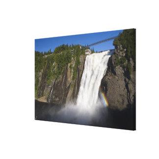 Montmorency Falls near Quebec City. Canvas Print