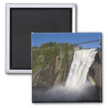 Montmorency Falls near Quebec City. 2 Inch Square Magnet