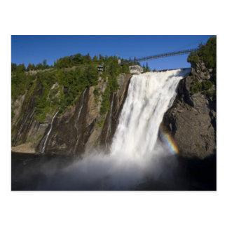 Montmorency Falls near Quebec City. Postcard