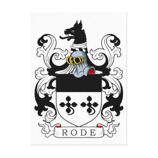 Montó el escudo de armas impresión en lienzo