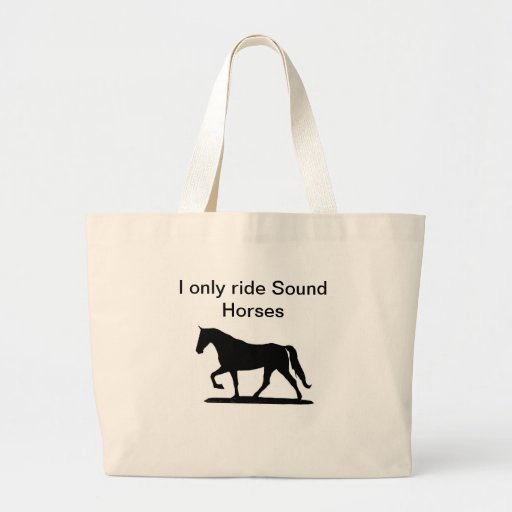 Monto solamente el tote de los caballos de los son bolsa de mano