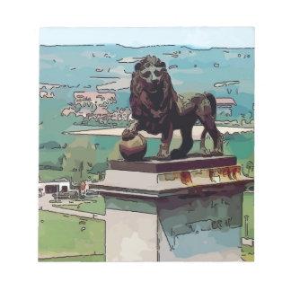 Montón del león en el campo de batalla de Waterloo Bloc De Papel