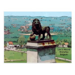 Montón del león en el campo de batalla de Waterloo Postales