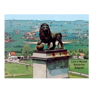 Montón del león en el campo de batalla de Waterloo Tarjeta Postal
