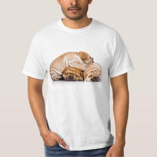 Montón del perrito de Shar Pei Remeras