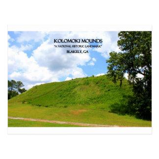 MONTONES de KOLOMOKI - Blakely, Georgia Postales