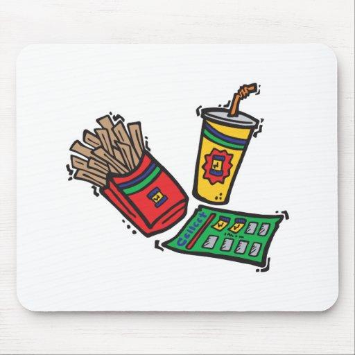 montos totales de los juegos de los alimentos de p tapetes de ratones