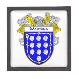 Montoya Coat of Arms/Family Crest Jewelry Box