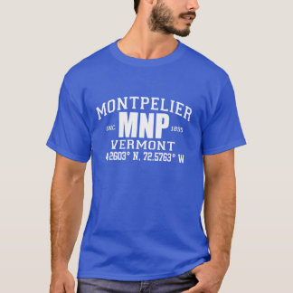 MONTPELIER CITY INCORPORATED COORDINATES TEE