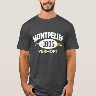 MONTPELIER VERMONT 1895 CITY INCORPORATED TEE