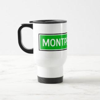 Montpellier, Road Sign, France Travel Mug