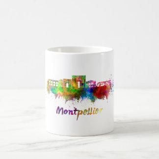 Montpellier skyline in watercolor coffee mug