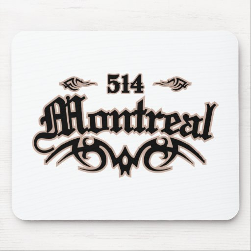 Montreal 514 alfombrillas de raton
