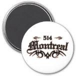 Montreal 514 iman de frigorífico