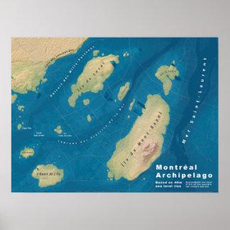 "Montreal Archipelago--24""x18"" Poster"