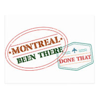 Montreal Been there done that Postcard