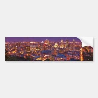 Montreal Canada City Skyline Belvedere Kondiaronk Bumper Stickers