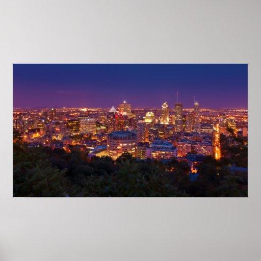 Montreal Canada City Skyline Belvedere Kondiaronk Poster