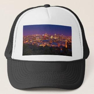 Montreal Canada City Skyline Belvedere Kondiaronk Trucker Hat