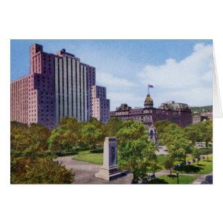 Montreal Canada Dominion Square and Park 1920 Card